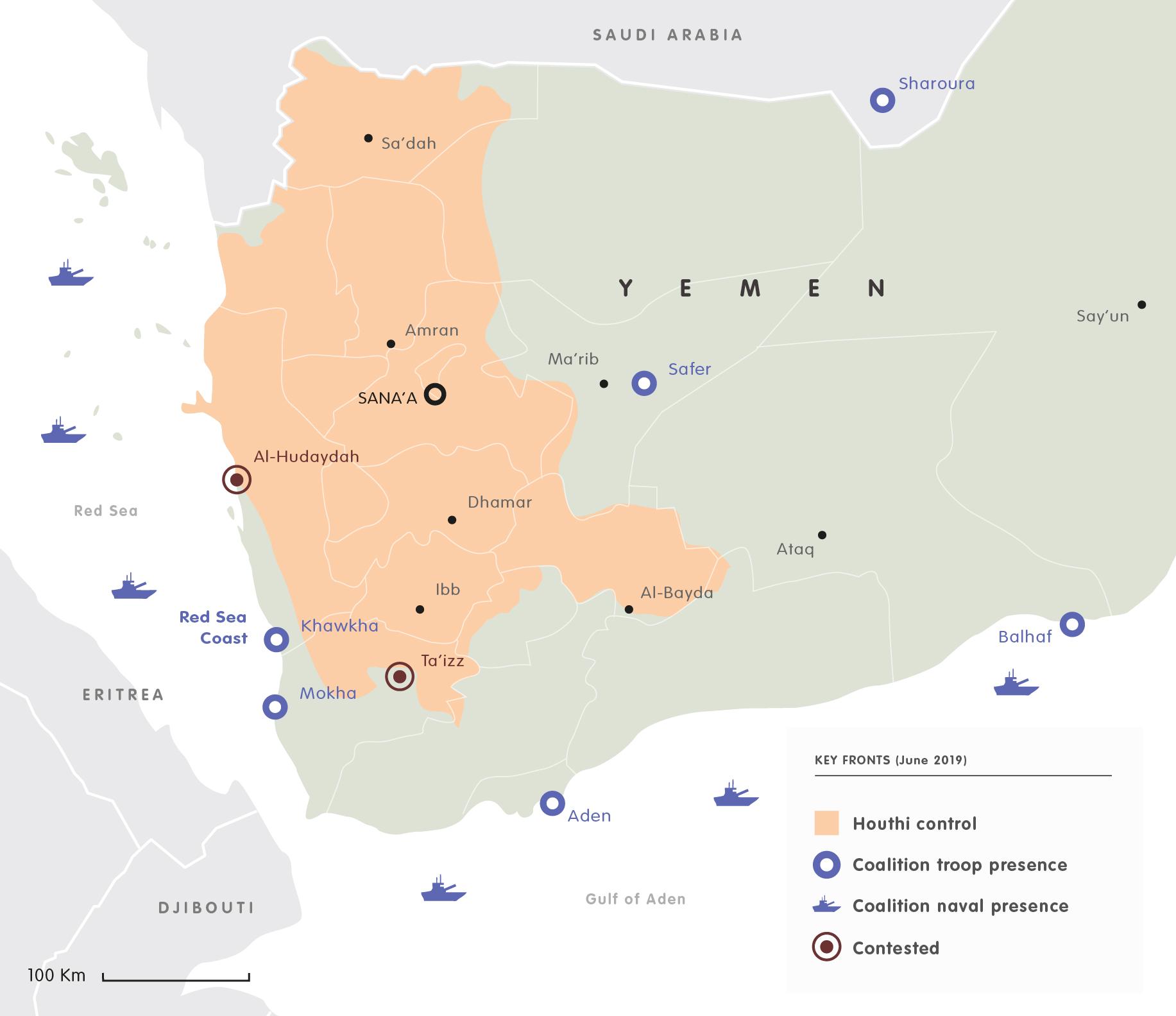 Yemen keyfronts 2019