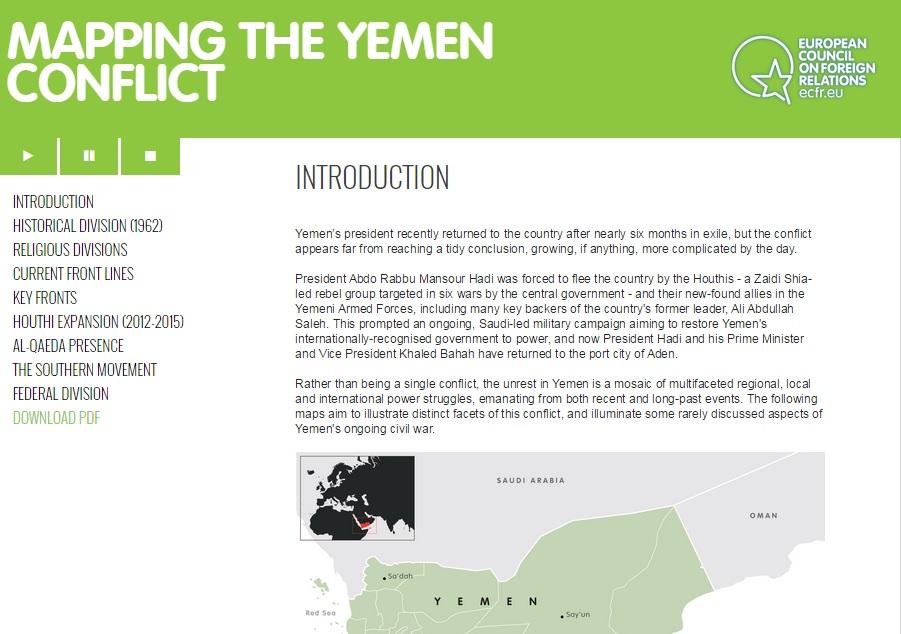 Mapeo del conflicto en Yemen