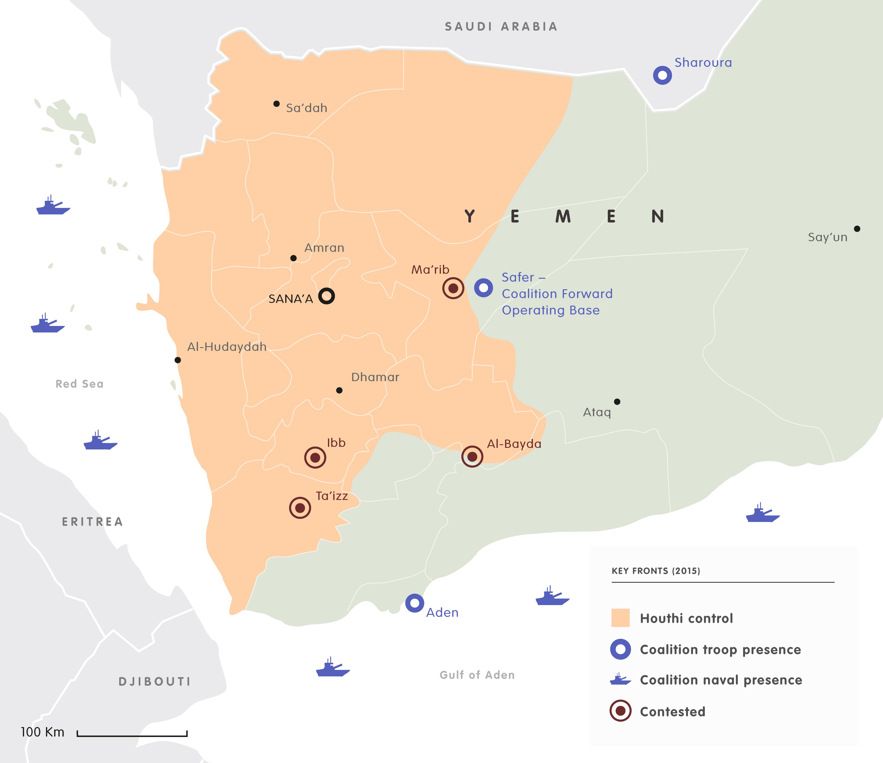 Yemen keyfronts 2015