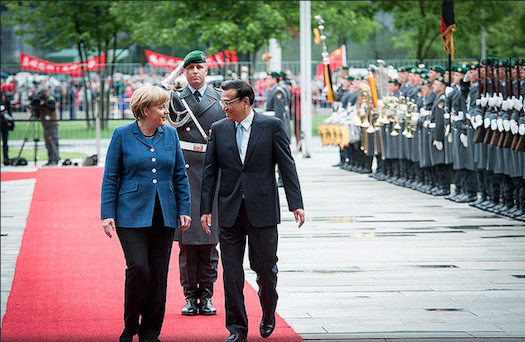 Angela Merkel meeting with Chinese Premier Li Keqiang. Image courtesy Bundesregierung.