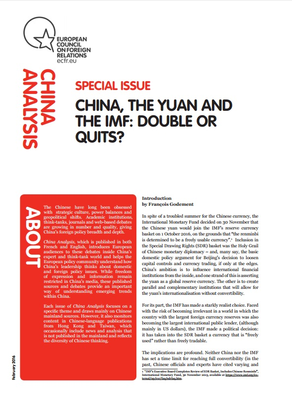 Cover: China, the yuan and the IMF: Double or quits?