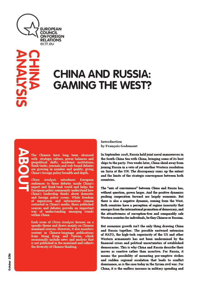 Cover: China and Russia: Gaming the West