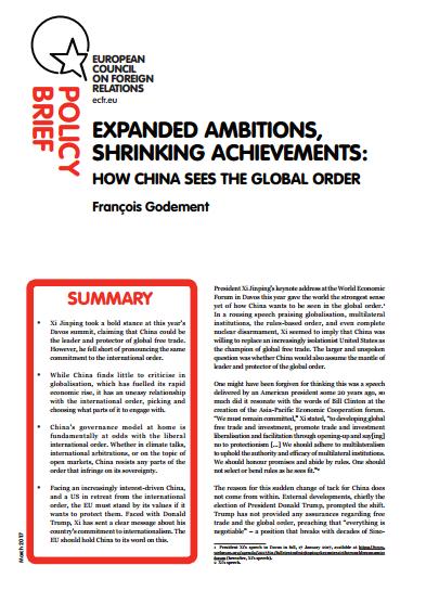 Cover: Ambiciones ampliadas, logros reducidos: Cómo China ve el orden mundial