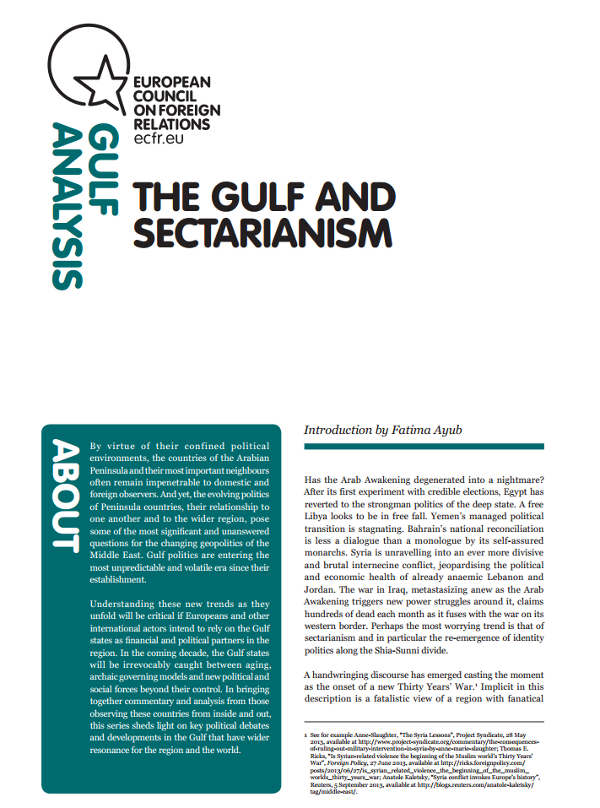 Cover: The Gulf and sectarianism