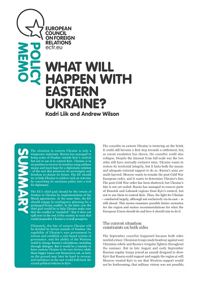 Cover: What will happen with Eastern Ukraine?