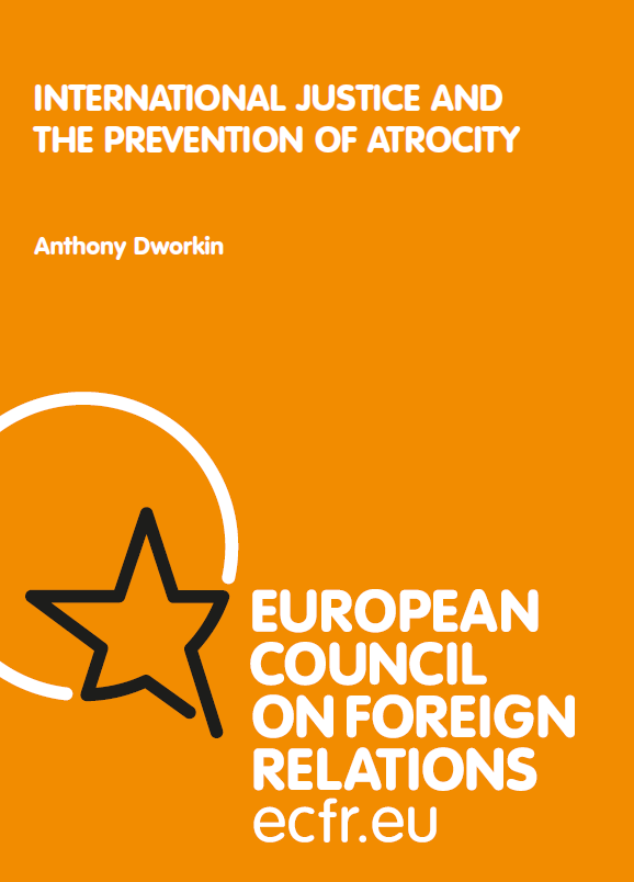 Cover: International Justice and the Prevention of Atrocity