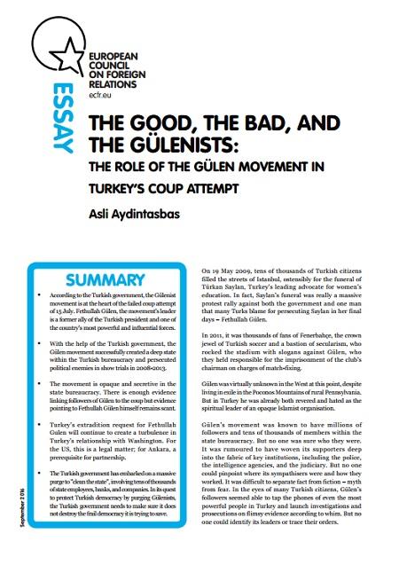 Cover: Rola ruchu Gülena w zamachu stanu w Turcji