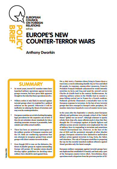 Cover: Europe's new counter-terror wars