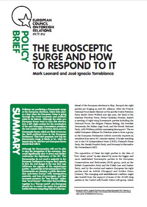 Cover: The Eurosceptic surge and how to respond to it
