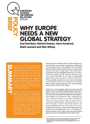 Cover: Why Europe needs a new global strategy