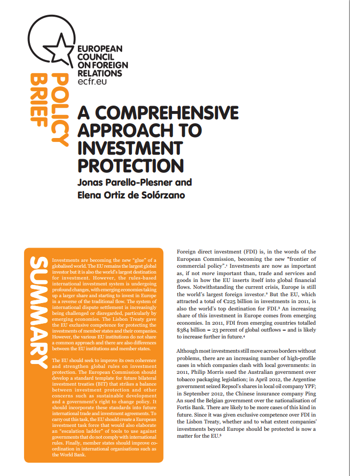 Cover: A comprehensive approach to investment protection