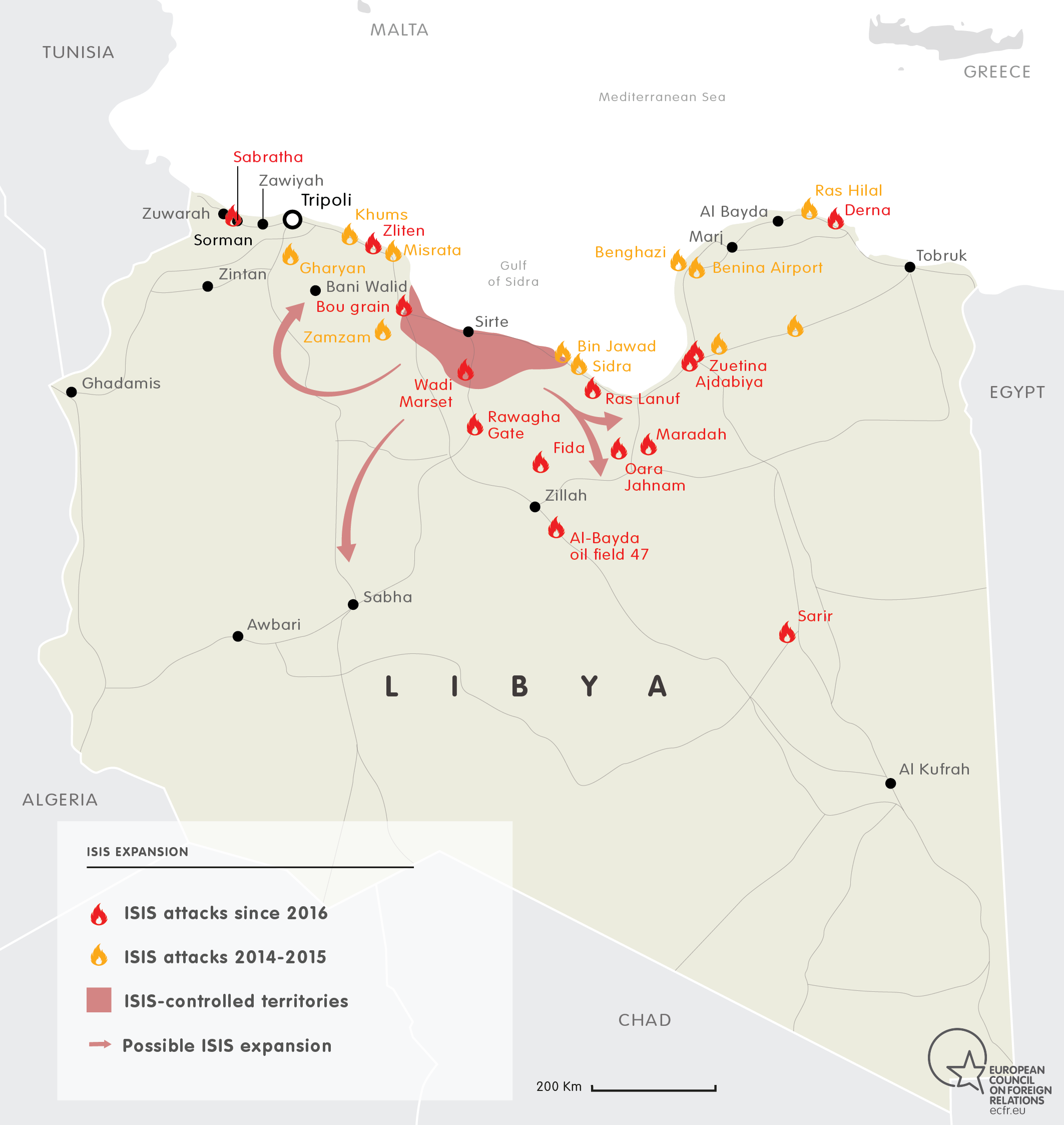 ISIS EXPANSION IN LIBYA 2015-2016