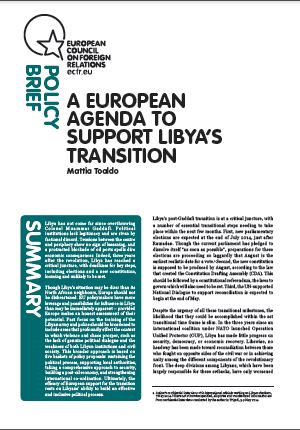 Cover: A European agenda to support Libya's transition