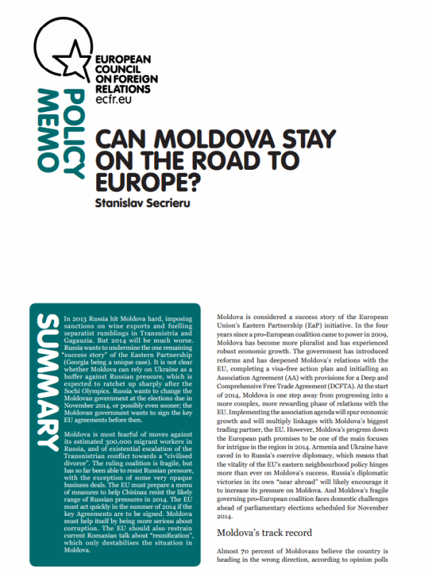 Cover: Can Moldova stay on the road to Europe?
