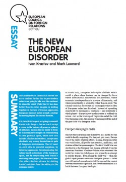 Cover: The New European Disorder