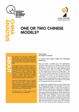 Cover: China Analysis: One or two Chinese models?