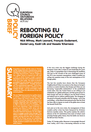 Cover: Rebooting EU Foreign Policy