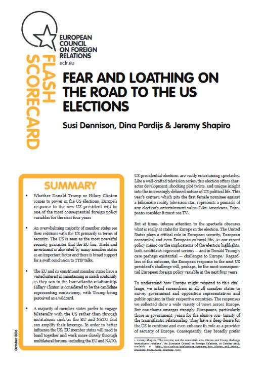 Cover: Strach i niechęć na drodze do amerykańskich wyborów