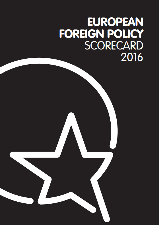 Cover: European Foreign Policy Scorecard 2016