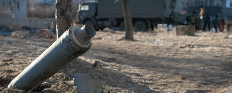 A shell in Debaltseve, Eastern Ukraine Flickr/ UNICEF Ukraine