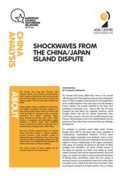 Cover: China Analysis: la disputa tra Cina e Giappone per le isole Senkaku/Diaoyu