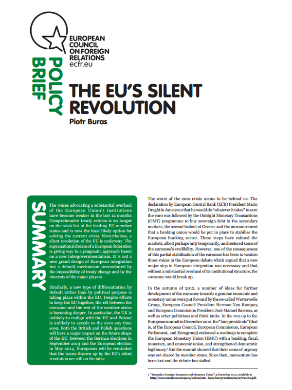 Cover: The EU's silent revolution