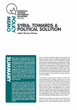 Cover: Syria: Towards a Political Solution