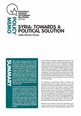 Cover: Syria: Towards a Political Solution