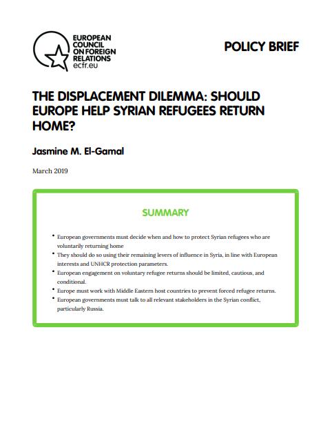Cover: El dilema de los desplazamientos: ¿Debe Europa ayudar a los refugiados sirios a volver a casa?