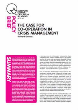 Cover: La gestion des crises et des conflits par l'UE : les écueils d'une Europe distraite