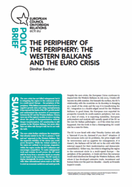 Cover: The periphery of the periphery: The Western Balkans and the Euro crisis.