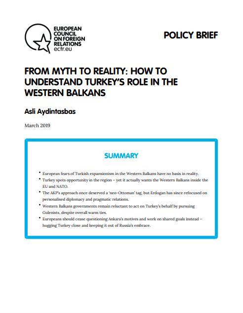 Cover: Del mito a la realidad: Cómo entender el papel de Turquía en los Balcanes Occidentales