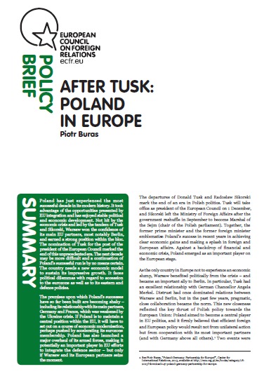 Cover: After Tusk: Poland in Europe