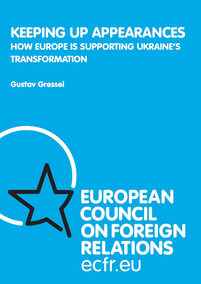 Cover: Keeping up appearances: How Europe is supporting Ukraine's transformation