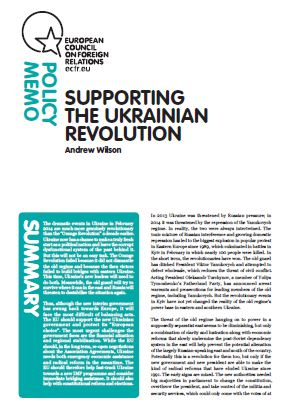 Cover: Supporting the Ukrainian Revolution