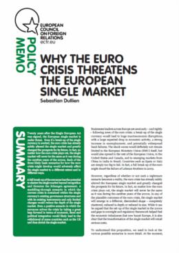 Cover: Why the euro crisis threatens the EU single market