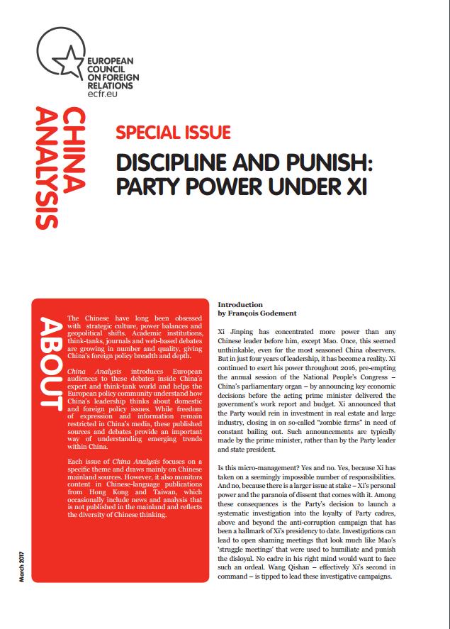 Cover: Discipliner et punir – le parti sous Xi Jinping