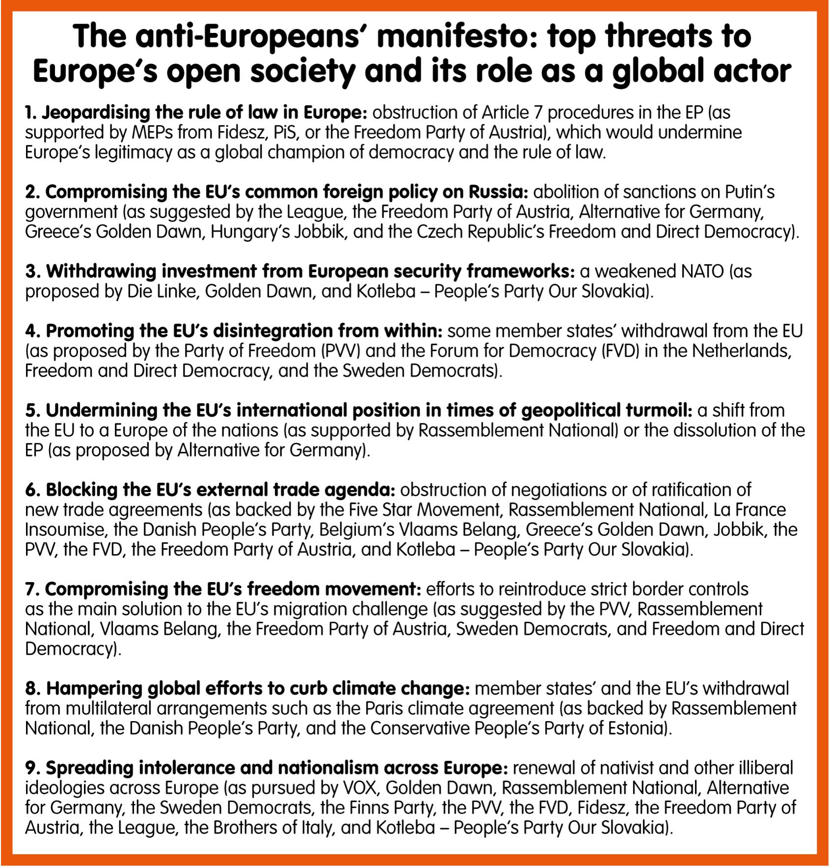 The anti European's manifesto