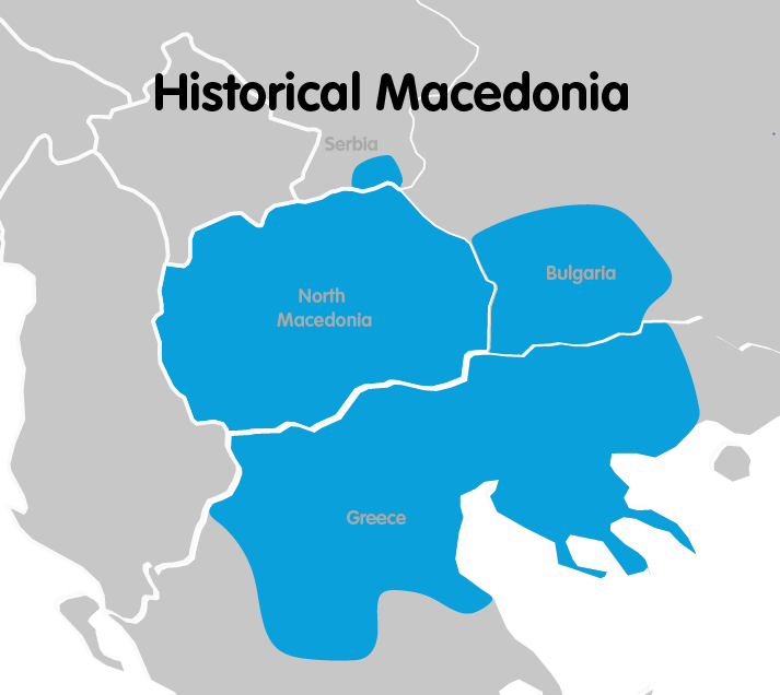 Historical Macedonia map