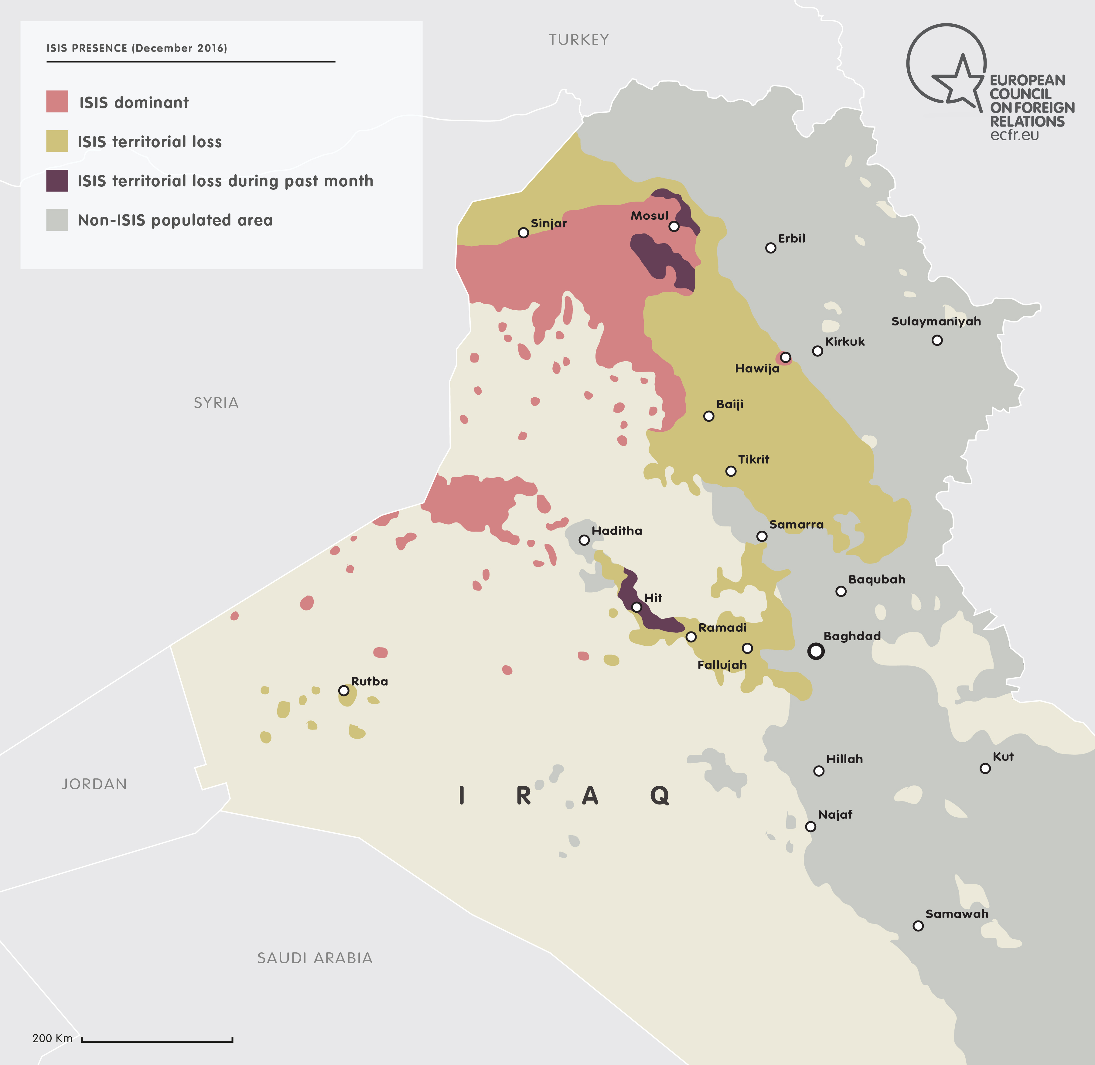 ISIS' Presence in Iraq