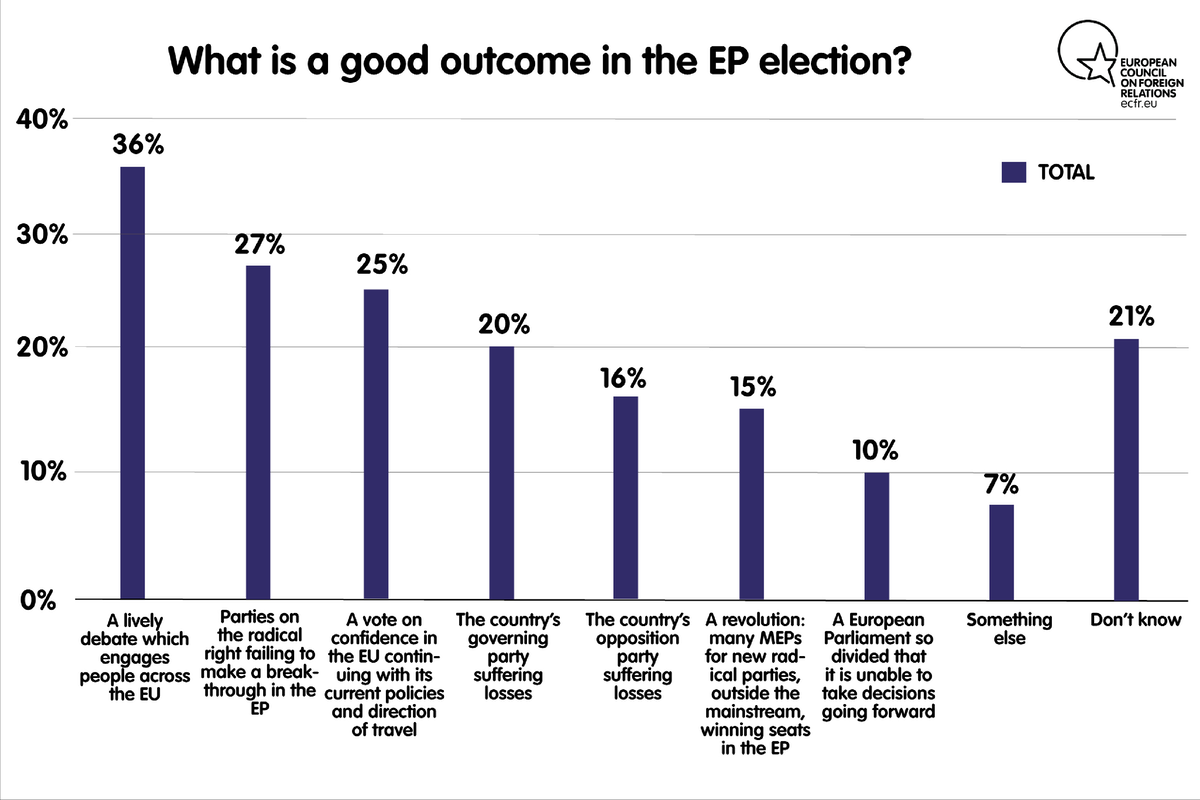 What is a good outcome in the EP election?