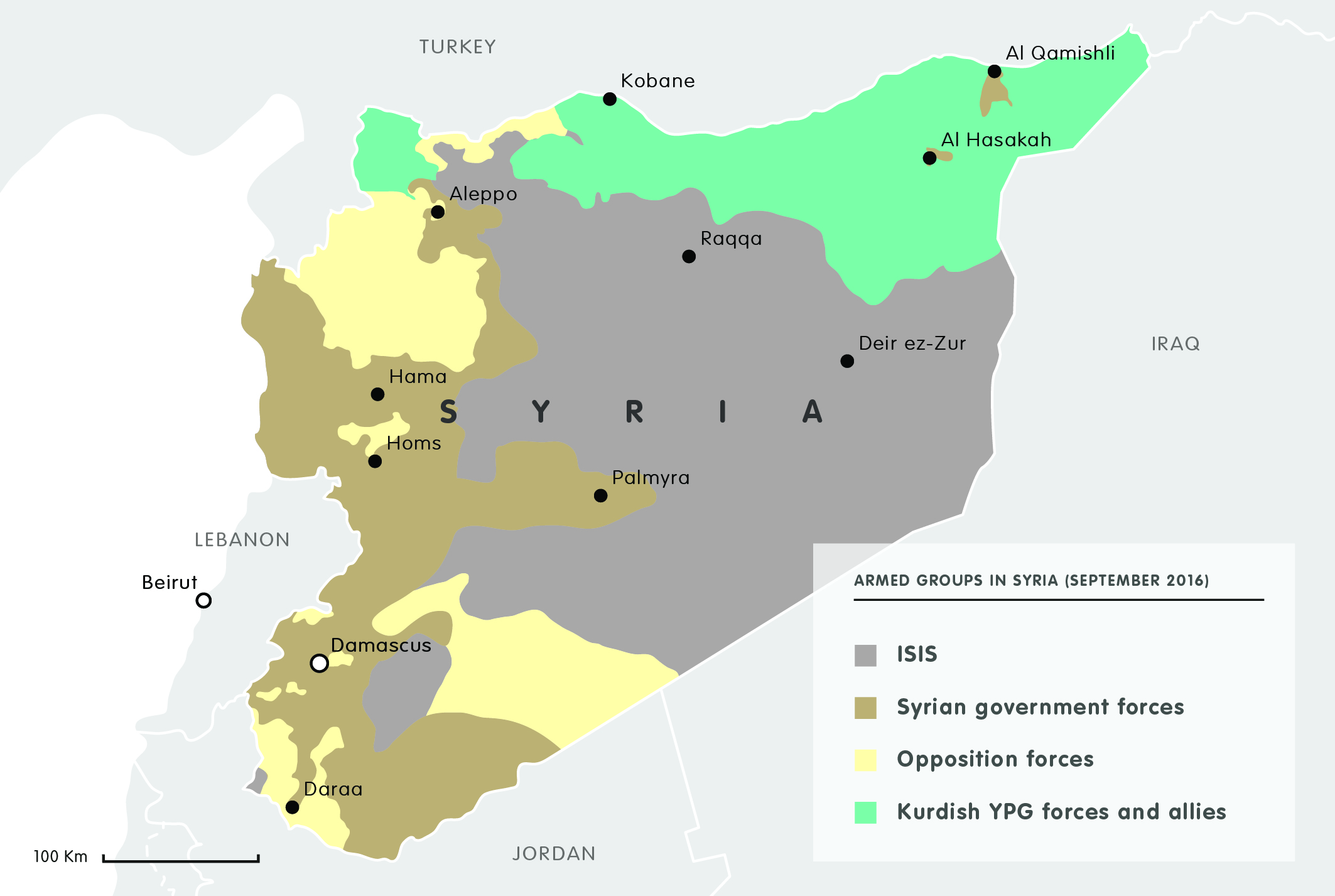 Armed groups in Syria (September 2016)