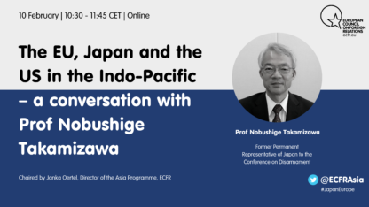 The EU, Japan and the US in Indo-Pacific – a conversation with Prof Nobushige Takamizawa