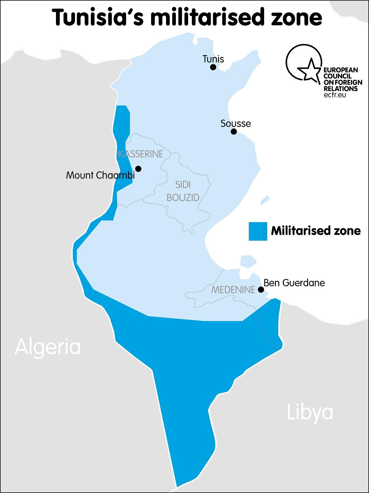 Tunisia's militarised zones