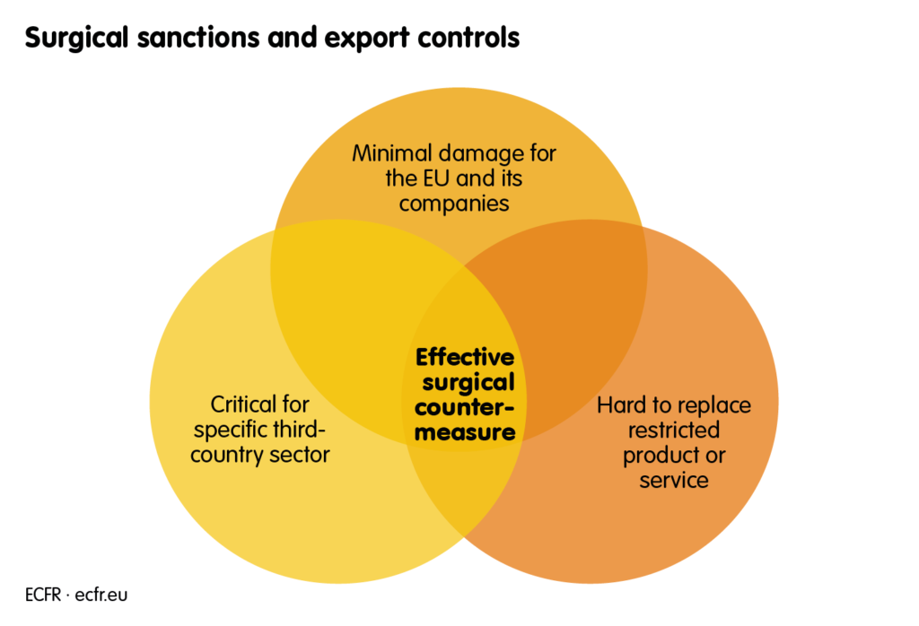 Surgical sanctions and export controls