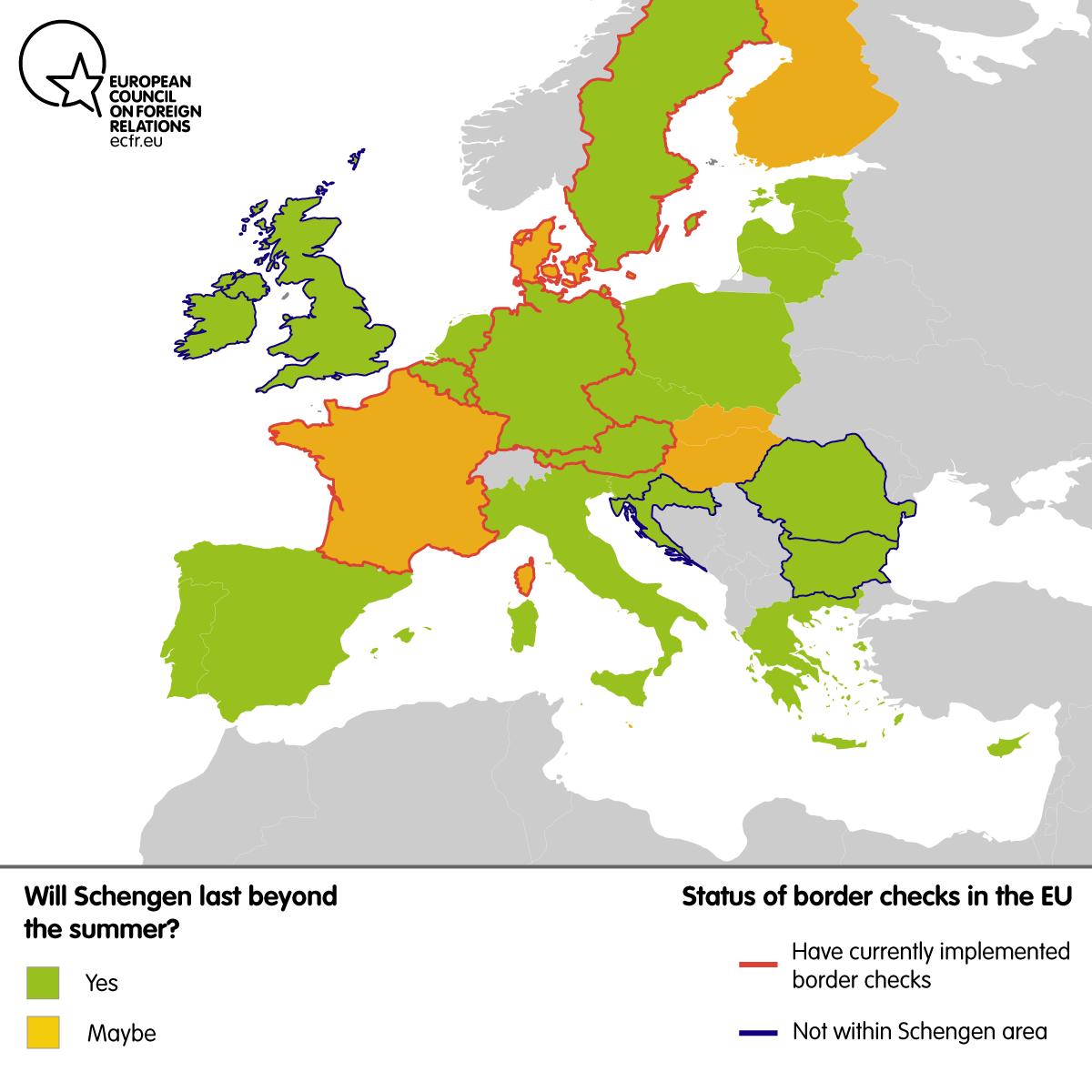 Map Will Schengen survive